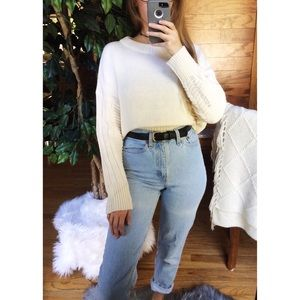 🌿 Topshop Cozy Cropped Chunky Knit Sweater 🌿